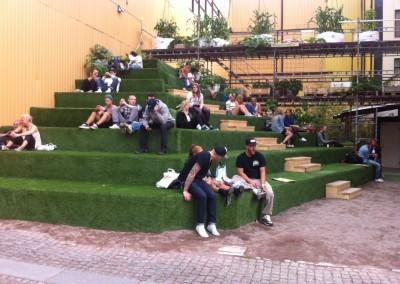 Trappa med konstgräs, Göteborg