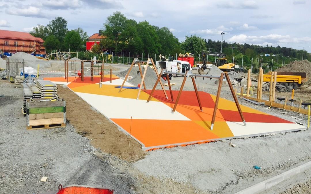 Pågående projekt i Ursviksskolan i Sundbyberg